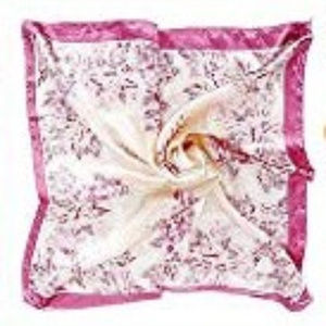 3/$15 Pink & White Floral Silk Scarf NWT